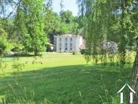 Magnificent estate with chateau + two houses 109m2 and 249m2 located in a small quiet valley with a lake on a ground 7.51 Ha Ref # MP8056