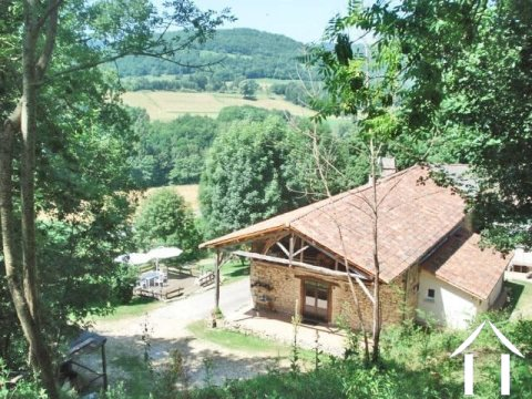 Stone farmhuse with Auberge 100m2, outbuildings and land,stunning views across the countryside to the Pyrenees. Potential for Chambres d'hotes or gite. Ref # MP9046