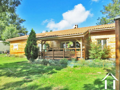 Finnish style chalet on large plot with magnificent views to the Pyrénées Ref # MP9070