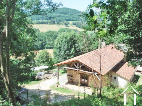 Part restored old stone farmhuse 124m2 with Auberge 100m2, outbuildings 88m2 and land 2.8ha  Ref # MP9046
