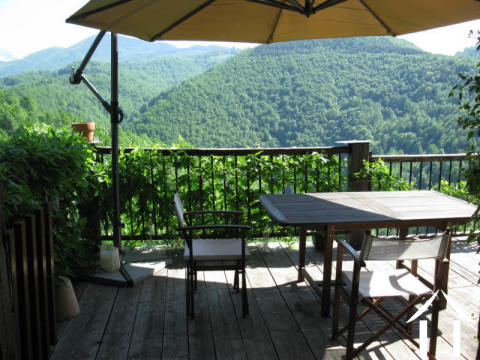 Stone mountain house with superb views to the Pyrenees, terrace and balcony Ref # MPMPDJ017