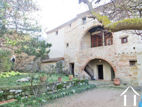 A large, 18th century, 3 bedroom, village house with a separate 2 bedroom apartment, large garden and off road parking.  Ref # MPOP0001 Main picture