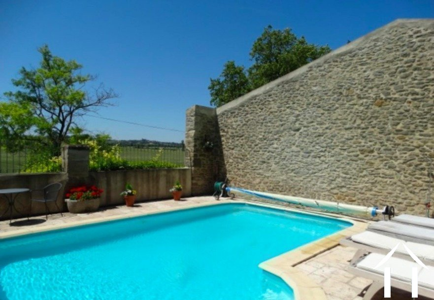 Beautifully renovated 3-bedroom stone house (194m2) with garden, swimming pool and views of the Pyrenees Ref # MPOP0057 image 19