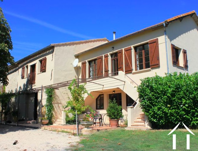 Beautifully renovated farmhouse currently 3 separate dwellings (400m2), pool, large barn (330m2), 29450m2 of land and amazing 360 degree views Ref # MPOP0060