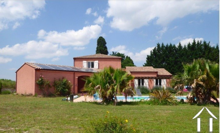Contemporary 5 bedroom French villa style house (160m2) with large pool, several large terraces, garage and large landscaped gardens (6,990m2) with wonderful panoramic views Ref # MPOP0062 image 5