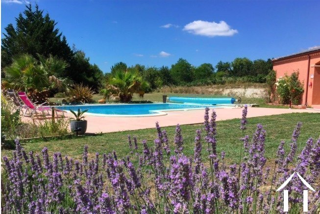 Contemporary 5 bedroom French villa style house (160m2) with large pool, several large terraces, garage and large landscaped gardens (6,990m2) with wonderful panoramic views Ref # MPOP0062 image 7