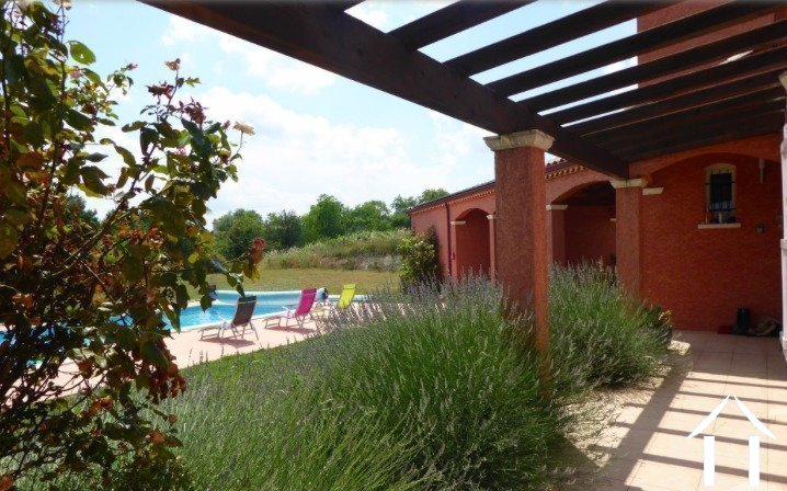 Contemporary 5 bedroom French villa style house (160m2) with large pool, several large terraces, garage and large landscaped gardens (6,990m2) with wonderful panoramic views Ref # MPOP0062 image 12