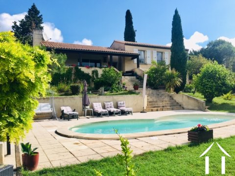 Lovely 4 bedroom house (115m2) with swimming pool and garage with 2,222m2 of mature gardens and beautiful views of the Pyrénées Ref # MPOP0070