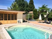 A traditional 4 bedroom French home (198m2) with separate gîte (75m2), swimming pool, landscaped gar Ref # MPPOP0028 image 2