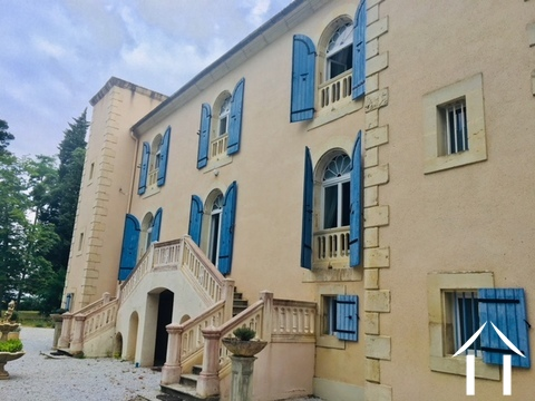 Beautifully renovated chateau, split into 4/5 separate dwellings, 2 houses, an infinity pool, wooden Ref # MPPOP0032 Main picture