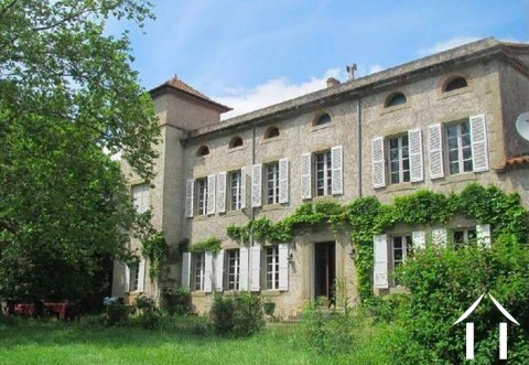 Magnificent 19th century Manor house with swimming pool, 4 bedroom gîte, 3 bedroom wooden chalet and Ref # MPPOP0064 Main picture