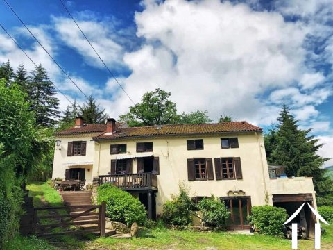 Pyrenean Mountain house with gites and land Ref # MPOP0027